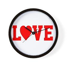 Peace Love Ed -dk Wall Clock