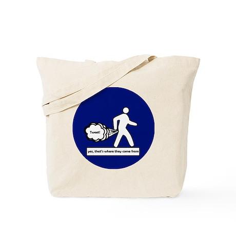 Tweet Button Tote Bag