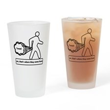 Tweet white Drinking Glass
