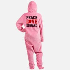 Peace Love Ed Footed Pajamas