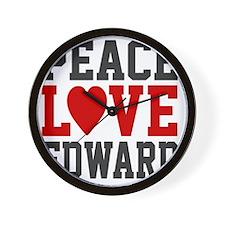 Peace Love Ed Wall Clock