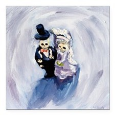 "Voodoo Wedding #1 Square Car Magnet 3"" x 3"""