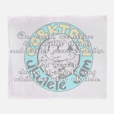 ukebenedictionW Throw Blanket