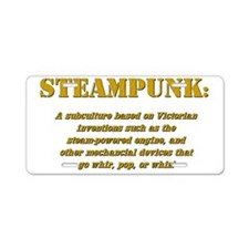 steampunk Aluminum License Plate