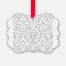 Grey damask pattern Ornament