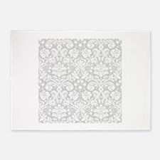 Grey damask pattern 5'x7'Area Rug