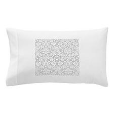 Grey damask pattern Pillow Case