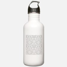 Grey damask pattern Sports Water Bottle