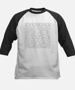 Grey damask pattern Baseball Jersey
