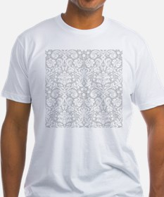 Grey damask pattern T-Shirt