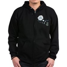alseep but dreaming2 copy copy Zip Hoodie