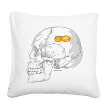 SkullPeanut Square Canvas Pillow
