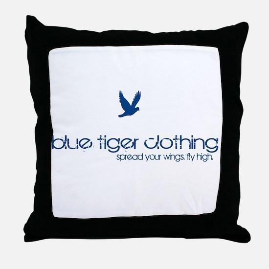 down_circle_white Throw Pillow