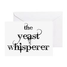 yeast whisperer 2000 black Greeting Card