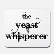 yeast whisperer 2000 black Mousepad