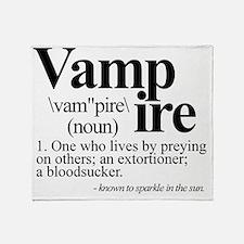 vampiretee Throw Blanket