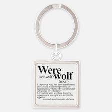 Werewolftee Square Keychain