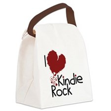 i love kindie rock Canvas Lunch Bag