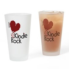 i love kindie rock Drinking Glass