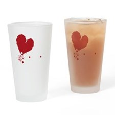 i love kindie rock_dark Drinking Glass