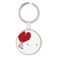 i love kindie rock_dark Round Keychain