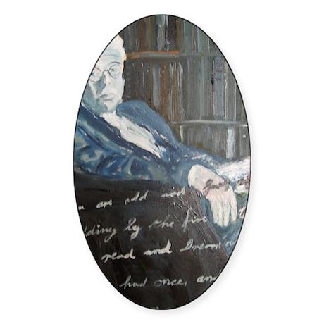 W.B. Yeats Sticker (Oval)