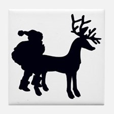 3-SantasBeenAbadboy_lites Tile Coaster