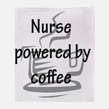 nurse and coffee copy Throw Blanket