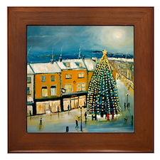 Christmas in Dublin Framed Tile