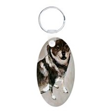 Isabell Aluminum Oval Keychain