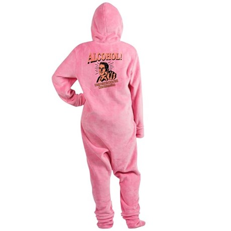 alcohol_complete Footed Pajamas
