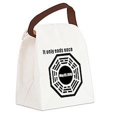 bagua-black Canvas Lunch Bag