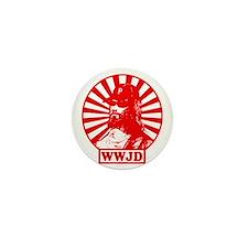 WWJWD new red wht Mini Button