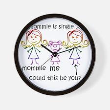 2-fam-girl-les Wall Clock