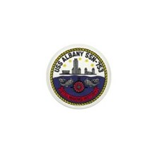 albany patch transparent Mini Button