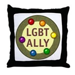 Ally Baubles -LGBT- Throw Pillow