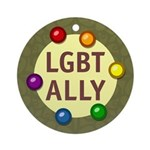 Ally Baubles -LGBT- Ornament (Round)