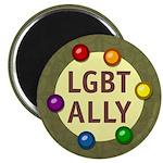"Ally Baubles -LGBT- 2.25"" Magnet (100 pack)"