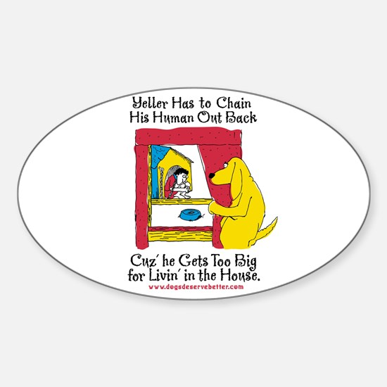 Yeller Chains Oval Decal