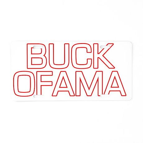 buckofama8 Aluminum License Plate