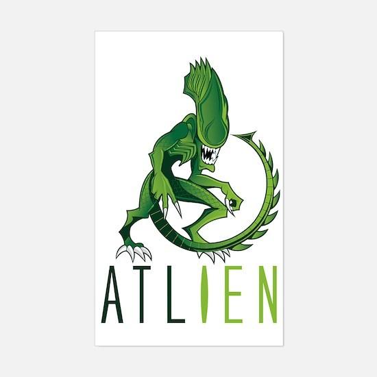 Atlien green Sticker (Rectangle)