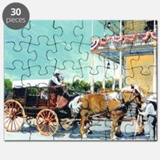 Stagecoach Old Town San Diego by RD Riccobo Puzzle