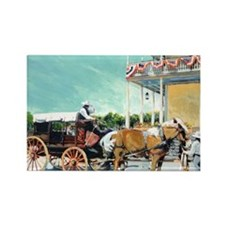 Stagecoach Old Town San Diego by  Rectangle Magnet