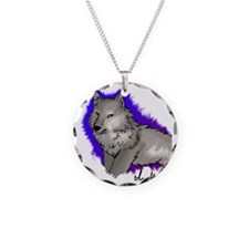 wolf design2 Necklace