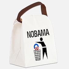 NoBama-(trash)-white-shirt Canvas Lunch Bag