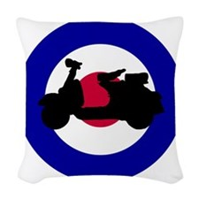 mod_target_scooter_side Woven Throw Pillow