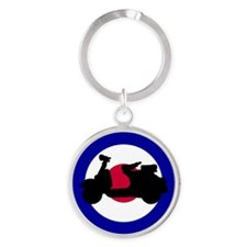 mod_target_scooter_side Round Keychain