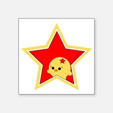 "starchickBig.gif Square Sticker 3"" x 3"""