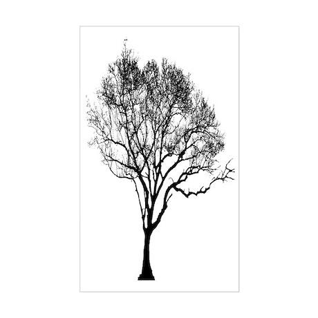Black Tree Sticker (Rectangle)