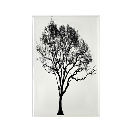 Black Tree Rectangle Magnet